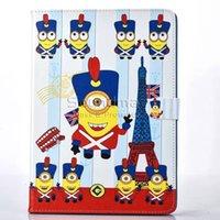 apple ipad mouse - Mickey Mouse Minions Cartoon PU iPad Tablet Auto sleep wake case for iPad air Mini OPP BAG