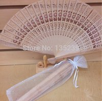 bags giveaways - Vintage Inspired Wood Folding Fan with Organza Bag Detalles Boda Regalos Hand Fan Wedding Giveaway Gifts Souvenirs Folding Fan