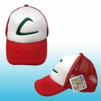 Cheap 2016 Hot Sale Anime Cosplay Pocket Monster Ash Ketchum Baseball Trainer Cap Hat Summer Cap Gift