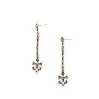 antique pearl stud earrings - Pearl Rhinestone Bejeweled Antique Gold Ladylike Earring Stud Statement Earring OEM ODM