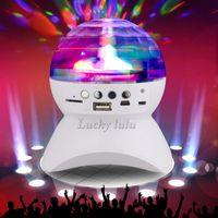 audio club speakers - Rotating Magic Ball speaker Light with W USB Wireless Bluetooth Speaker Mini Card Slot Rotating For KTV Xmas Party Club Pub Disco DJ