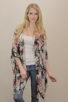 palm trees - Whoelsale Top Quality Fashion Ladies Palm Tree Printed Kimono With Tassel For Women YSK