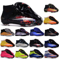 b c printing - 100 original Mercurial Superfly FG Kids Soccer Shoes football Boots C Ronaldo CR7 soccer Cleats Laser Youth Women Boy s Football Sneakers
