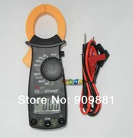 Wholesale Min DT3266F Digital Clamp Meter Electronic Ammeter With Buzzer Alarm Multi Clamp Ampere Ammeter Measure AC DC Voltage Resistor