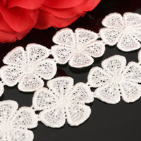 Wholesale Polyester Petals Crochet Embroidered Beige Stretch Lace Ed ge Trim Home DIY Sewing Craft Wedding Decor