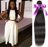 Wholesale Brazilian hair human hair weave unprocessed straight human hair bundles dyeable8 inch straight wave