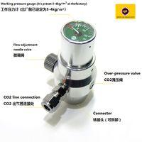 Wholesale AC110 V Professional UP A G CO2 Regulator for Aquarium Fish Tank CO2 System Regulator Working Pressure Gauge Diffuser Solenoid Valve