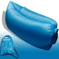 Wholesale Big Size Beach Portable Outdoor Inflatable Bone Furniture Sofa Hammock Sleeping Camping Air Bed Nylon Lazy Air Sofa Bag