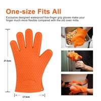 Wholesale NON Slip Grip Set of Silicone Oven Gloves Make Handling Pots and Pans Easy Withstands Heat Up TO F