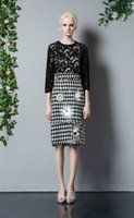 Wholesale High Quality Newest Autumn Fashion Women Sleeve Lace Top Macrame Woolen Skirt Slim Casual Set