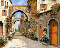 Wholesale Giclee View of Venice arts and canvas wall decoration art Oil Painting on Canvas X75cm