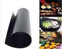Wholesale 100pcs Non stick BBQ Grill Mat Barbecue Baking Liners Reusable Teflon Cooking Sheets cm Cooking Tool