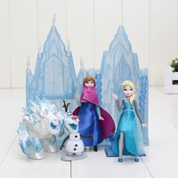 age of castle - Princess Castle Ice Palace Throne Play Set Elsa Anna PVC Model Toys Set of Snowman Sven Figure Doll