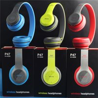 apple hands free headphones - Newest P47 Bluetooth Headphone Wireless Headband Earphone Hands Free Music Headset With MF TF for Apple Samsung HTC LG Mobile Phone