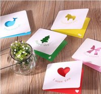 Wholesale The new aesthetic creative color stereo fold hollow blank card card Festival blessing Korea Cards Leave Messages Gift Wish Cards Foldable
