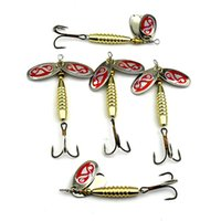 Precio de Buena pesca-10pcs cebo rotatorio lentejuelas falso cebos mercancías de exportación artes de pesca artesano cebo cebo pesca señuelos accesorios de pesca de metal gancho de trastos