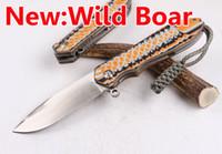 bear wood carvings - 2016 NEW Mountain Pig Wild Boar BUSSE Mermaid SZ001 cm D2 Sanding Blade Carved G10 Handle OEM EDC Folding Ball Bearing Gift knife Knives