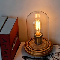 Wholesale Modern Fashion Wood Table Lamp Glass Bell Jar Wooden Table Lamp Bedroom Bedside Style Fast Delivery