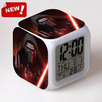 alarm force - 2016 The Force Awakers Star war Alarm Clock Led Light Color Change Projeksiyon Reloj Relogio De Mesa Vintage Table Square Digital Watch Th