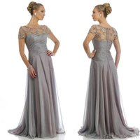 best wrap dress - Best Sellings Grey Mother Of The Bride Dresses With Cap Sleeve A Line Beaded Long Chiffon Bridal Party Gown Long Formal Evening Dress