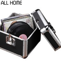 Wholesale LP vinyl record collection box car CD ROM disc storage box aluminum toolbox portable equipment box