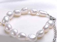 Beaded, Strands baroque pearls rings - Charming mm south sea white baroque pearl necklace inch silver