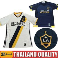 beckham number - Whosales Discount LA Galaxy Soccer Jersey BECKHAM GERRARD La Galaxy Jersey Football Shirt Customized Number Name