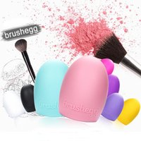 Wholesale 1Pcs Brushegg Washing Makeup Brush Cleaner Cosmetic Brushes Cleaning Silicone Brush Clean Tools Made Beauty Egg for Makeup