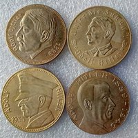 antique gold coins prices - Germany A set of third Reich Hitler gold plated A Promotion Cheap Factory Price nice home Accessories Silver Coins