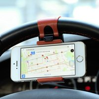 apple steering wheel - Universal Car GPS Navigate Stand Steering Wheel Phone Clip Holder Case for iPhone s for Samsung S4 S5 S6 Edge for LG etc
