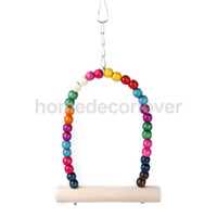 Wholesale Swing Bird Toy Parrot Toys Cages Parakeet Cockatiel Finch Lovebird Budgie