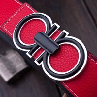 Wholesale High Quality Ceintures Homme Luxury Brand Belts For Man Metal Letters Belts Leather Women Cinturones Mujer