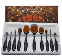 Wholesale Foundation Brush Anastasia Oval Makeup Brushes Cosmetic Foundation BB Cream Powder Blush Brushes with Retail Box set