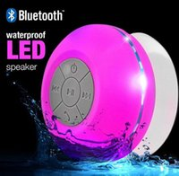 bathroom shower radio - Q9 Sucker Dustproof Bathroom Waterproof Wireless Bluetooth Speaker With LED Light Car Shower Speaker Handfree for iphone samsung Colors Q9