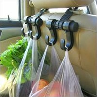Wholesale 2pcs Multi function car seat hook auto seat hooks Car garbage bags car garbage bags seat