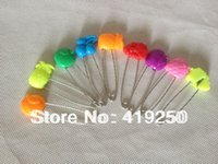 baby diaper pins - 200pcs mm Baby Diaper Safety Pins Colorful fruits Plastic Safety Head