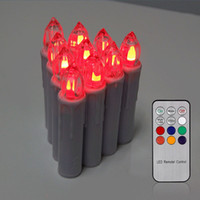 Wholesale 10Pcs Remote Control RGB Romantic Xmas Party LED Tea light Candles Lamp Battery Operated With Key IR Remote Controller