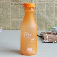 Wholesale 550ml Candy Color Orange Color Unbreakable Pressurized Cup PC Plastic Material Dull Polish Water Bottles