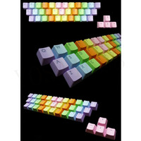 Wholesale Cherry MX Keycaps Backlight PBT key Double shot Translucidus Backlight Backlit Rinbow Keycaps for Mechanical Keyboard