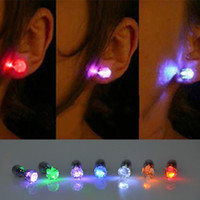 Wholesale 2015 Hot Sale Cool Light LED Light Ear Studs Shinning Earrings Unisex pairs