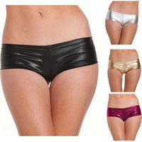 adult hipsters - Hot Sexy Underwear Temptation Suit PU Hipster Elastic Underwear Adult Dance Club With Flirting Four Colours