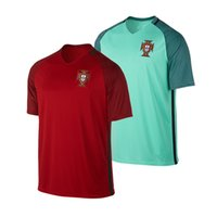 best of europe - 2016 Europe cup Portuguese jerseys Best Thai version of quality national team Nani Ronaldo Moutinhol Football Shirt