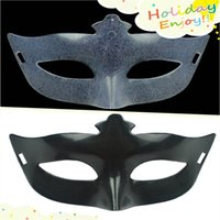 best halloween masks - Best DIY Mask Hand Painted Halloween Transparent Black Face Mask Blank Half Face Masquerade Party Cosplay Masks Patch