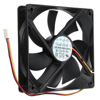 Wholesale 12V Pin mmx120mmx25mm Silen t Computer CPU Cooler Small Cooling Fan PC Black Heat Sink