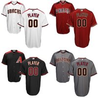 arizona free - CUSTOM Authentic Men Arizona Diamondbacks baseball jerseys Cool Base Stitched size S XL