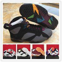 Wholesale 7 VII Retro BORDEAUX Basketball Shoes Discount Women Men Sports Shoes Discount Sports Shoes Leather Mens Basketball Shoes