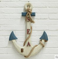 anchor wall decoration - Retro bar Coffee store Decor anchor holiday decorations ship sea anchor rudder