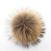 Wholesale 100 cm real fur ball raccoon fur pom poms ball hats for shoes bags fur cap accessories