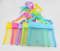 Wholesale 2016 Kids baby children Beach Toys Receive Bag Mesh tote Sandboxes sand bags organizer Away Sand Child Storage Shell Net Sand Away Pouch