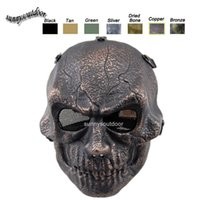 Wholesale Desert Corps Mask Outdoor Sports Face Protection Shooting Gear Full Face Movable Chin Tactical Airsoft Skull Mask